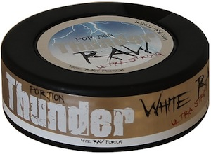 thunder white raw frosted portion snus